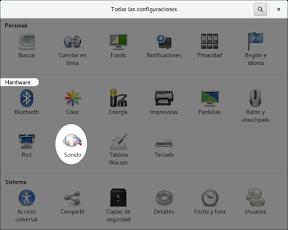 Configurar el hardware en GNOME. El sonido.