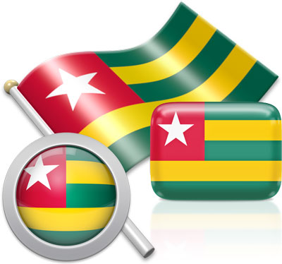 Togolese flag icons pictures collection