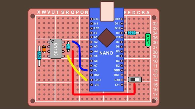 Synth build guide MIDI circuit 14