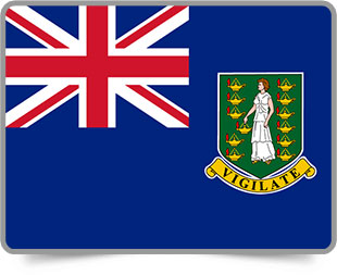 British Virgin Island  framed flag icons with box shadow