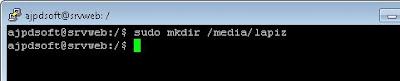 Montar un lápiz de memoria USB en Linux Ubuntu Server 11.04