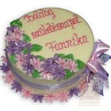 35. kép: Ünnepi torták - Születésnapi lila és rózsaszín virágos torta