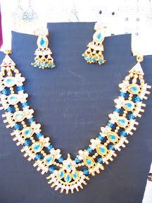 white and blue Indian necklace $12.00