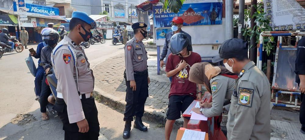 Polda Banten Laksanakan Ops Yustisi Aman Nusa II di Pasar Lama
