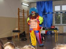 Clown Walduś w naszej szkole