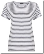 Warehouse Breton striped navy and white tshirt