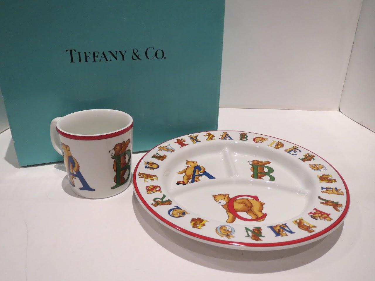 Tiffany & Co. 'Alphabet Bears' Mug and Plate 2