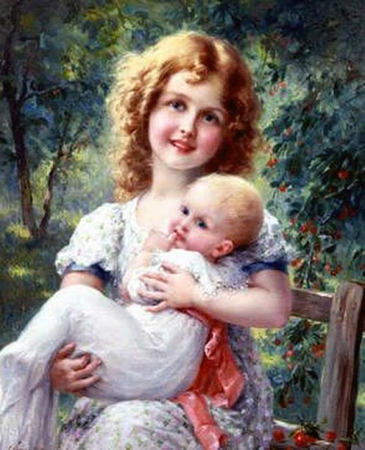 Emile Vernon - Holding the baby, 1918