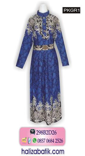 baju batik modis, model gamis batik terbaru, mode batik,