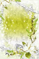 floral photo frames 1