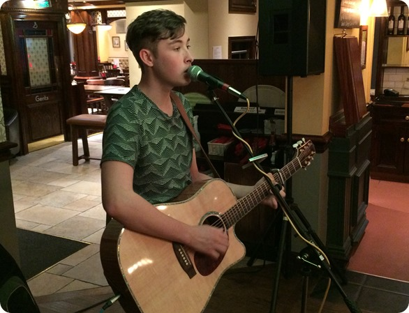 Callum Wright performs at The Woodside