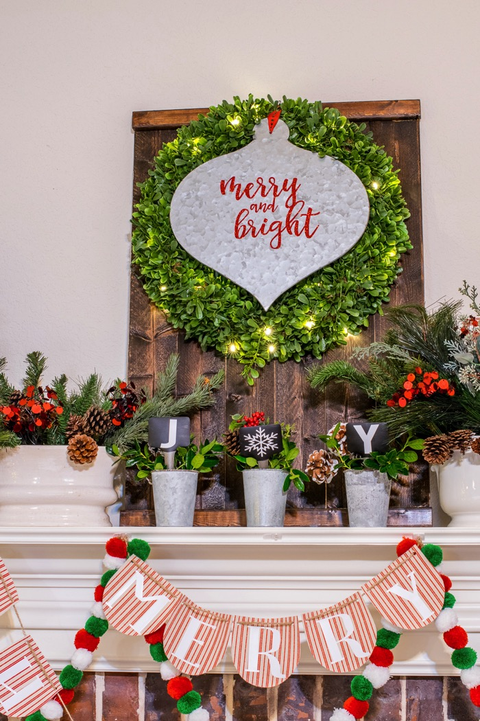 Fixer Upper Inspired Holiday Home Tour 2016