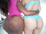 babe gets fucked hard along with her white friend with a huge ass