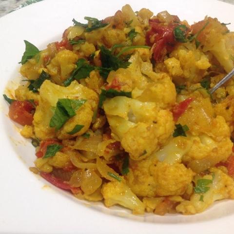cauliflower and potato dish - Aloo Gobi