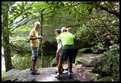 10d3 - Linn Cove Viaduct Hike May 29 - walking through the boulder field - Just can't take Bill anywhere