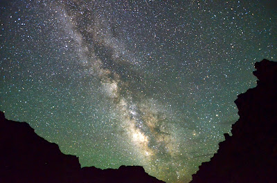 The Milky Way from our campsite