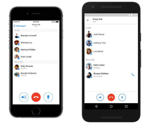 Facebook Messenger Now Supports Group Calls With Up To 50 Recipients