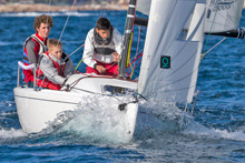 J/70 family sailing with kids in Primo Cup Monte Carlo