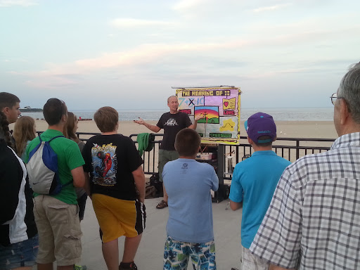 Chris did a superb job sharing the gospel message. This was his first time preaching at Hampton Beach!