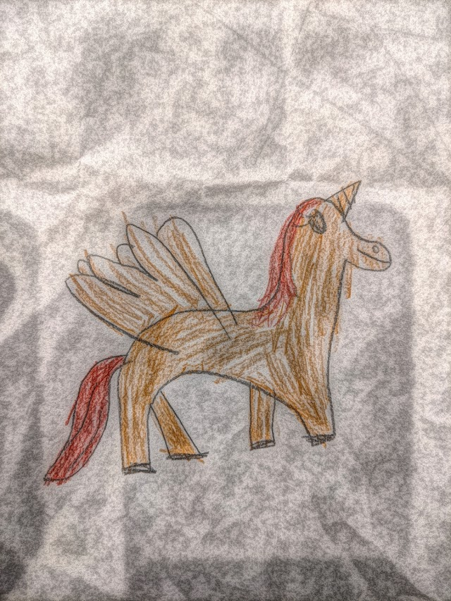 Unicorn free kids drawing