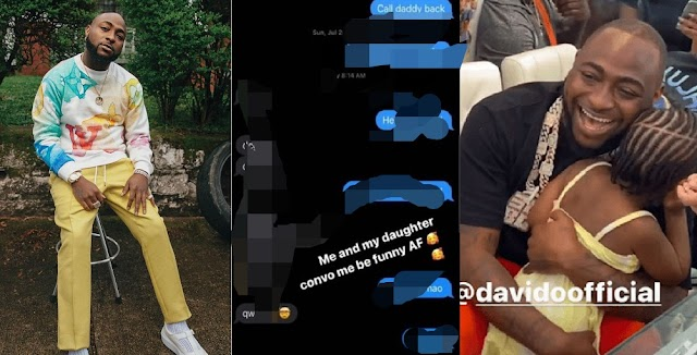 Davido Shares The Conversation He Had With His 4-Year-Old Daughter, Hailey [Photos]