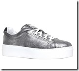 Kenzo Lace Metallic Silver Trainers