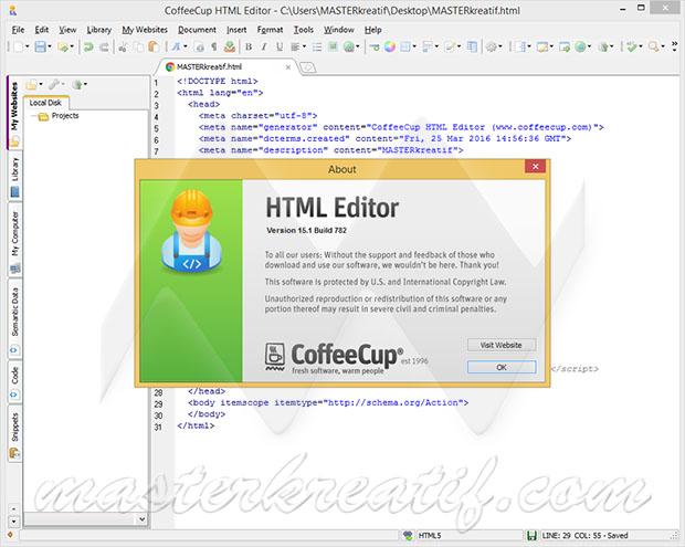 CoffeeCup HTML Editor 15 1 Full Crack | MASTERkreatif