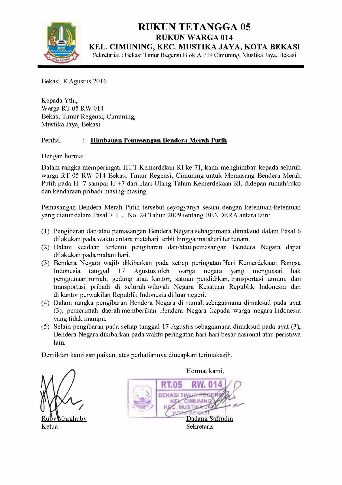 Five Fourteen Himbauan Pemasangan Bendera Merah Putih