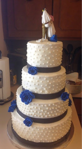 Cathy\'s Cookie Creations: Royal Blue/black Wedding cake