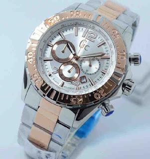 Jual jam tangan Gc chrono combi rosegold