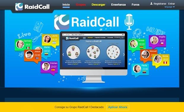 Abrir mi cuenta RaidCall