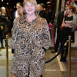 WWW.ENTSIMAGES.COM -     Annette Badland   arriving at       East is East - press night at Trafalgar Studios London October 16th 2014                                                 Photo Mobis Photos/OIC 0203 174 1069