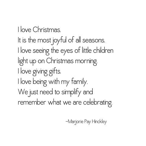 Christmas -- marjorie hinckley
