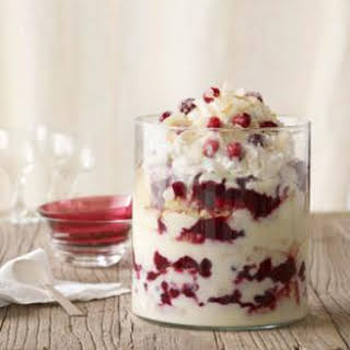 Cranberry Coconut Trifle.