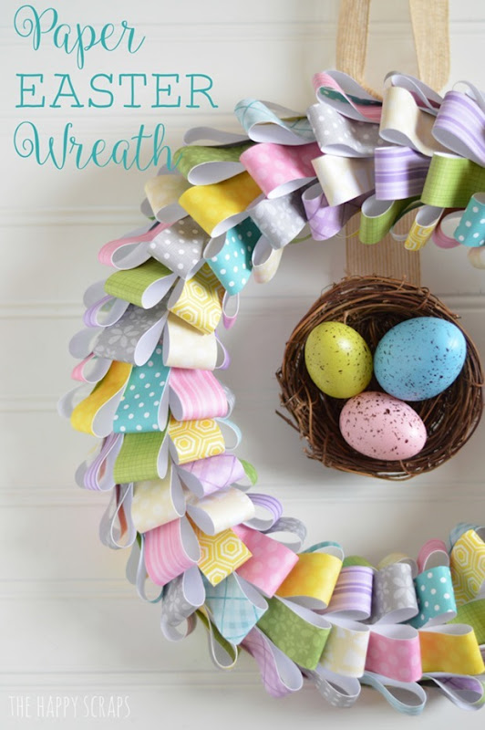 paper-easter-wreath