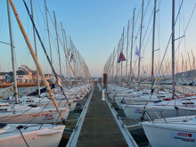 J/80 one-design sailboat- ready for sailing at SPI Ouest France regatta