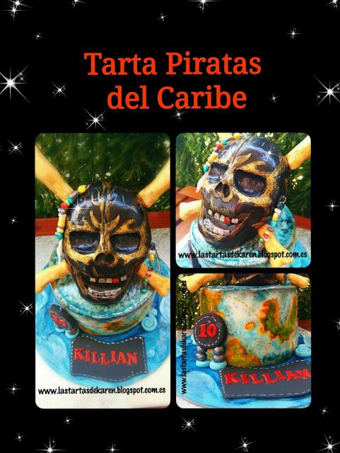 caribbean pirate cake, skullcake