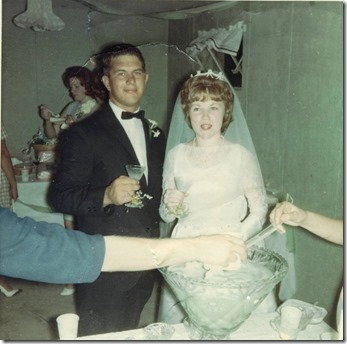 Frosted Lime Punch made by Mother Our Wedding sept 8 1965