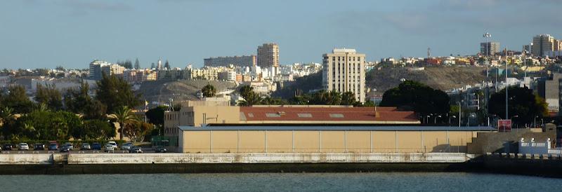 Panorama von Las Palmas Hafen und Innenstadt