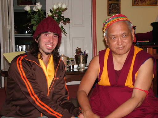 Osel and Lama Zopa Rinpoche at Kachoe Dechen Ling, USA July 2006