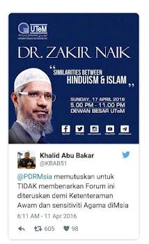 Tahniah kepada PDRM kerana berjaya menghalang ceramah Dr. Zakir Naik