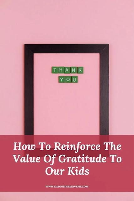 Reinforcing the value of gratitude in children