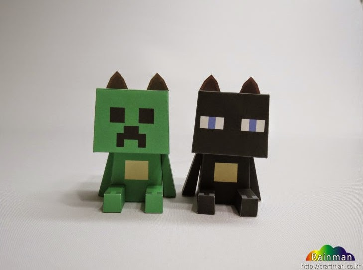 Petoy Bear Minecraft Costume Papercraft