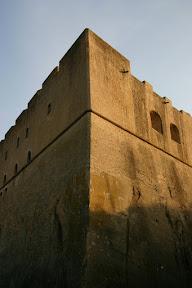 Imposing walls of Castel Sant'Elmo