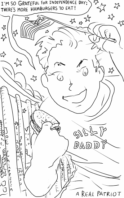 Silly Daddy - A Real Patriot comic by Joe Chiappetta