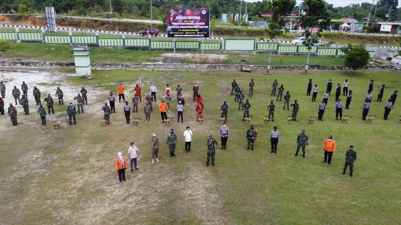 Kodim 0913/PPU Gelar Giat Serbuan Teritorial Guna Pendisiplinan Prokes