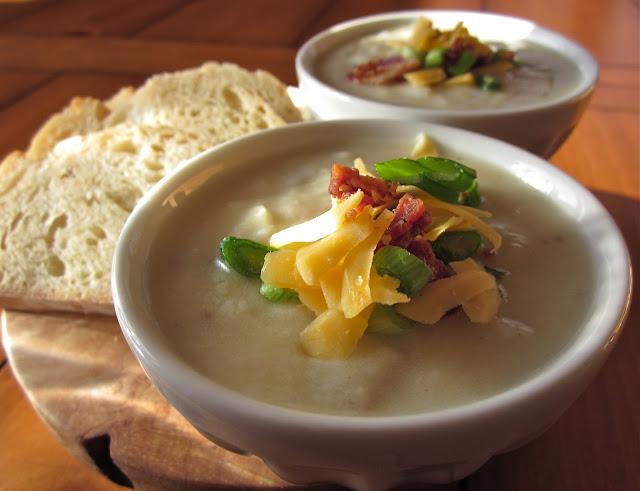 Arctic Garden Studio: Roasted Garlic and Potato Soup