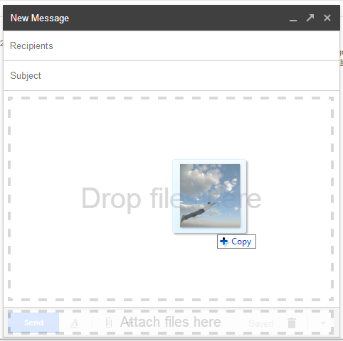 GMail Editor Photo Attach