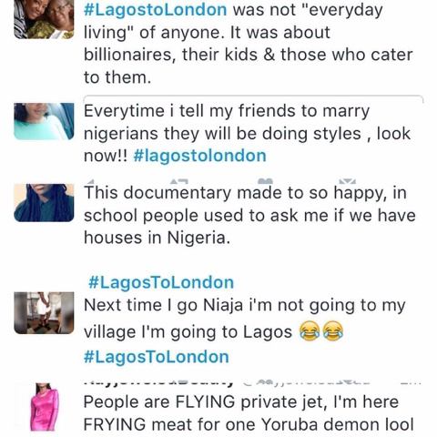 Nigerians React To #LagostoLondon Documentary Detailing The Life Of Nigerian Billionaires 6
