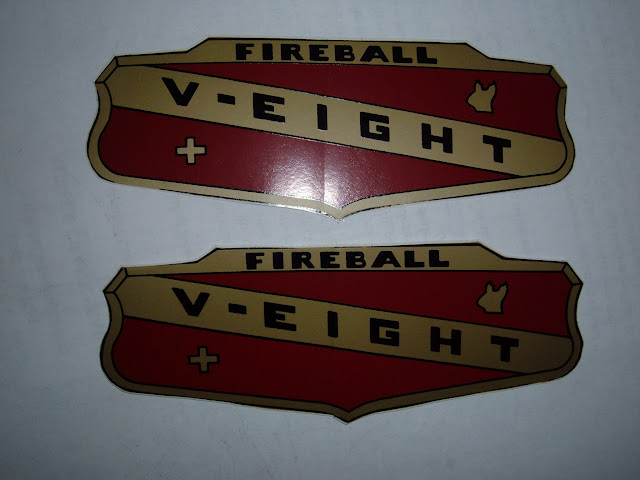 1953, 1954 and early 1955 264-322 Valve Cover Decals.  7.00 each